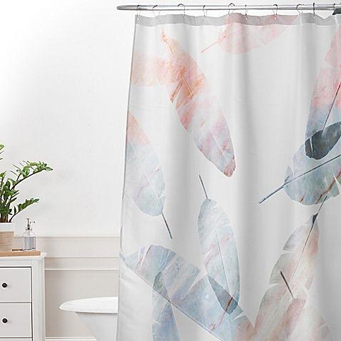 Deny Designs Iveta Abolina Coral Shoreline Shower Curtain In Grey