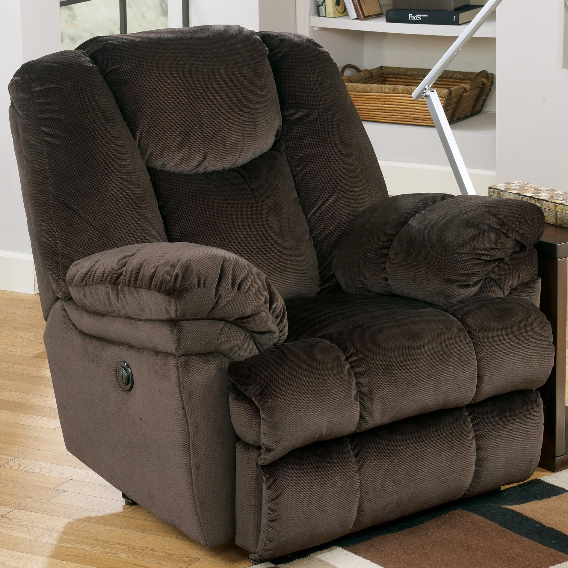 Swivel Chair Nebraska Furniture Mart Wooden Glider Outdoor Leoti Coffee Recliner By Signature Design Ashley