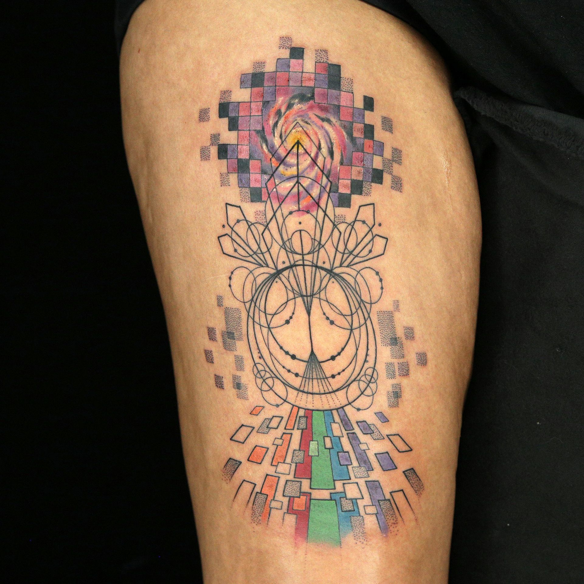 Pixel Tattoo By Daniel Silva Pixel Tattoo Tattoos Ink Master