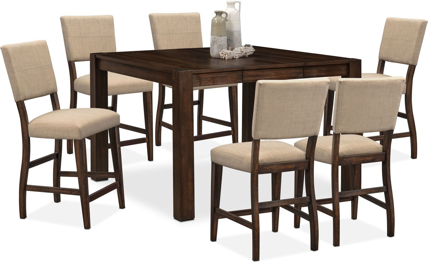 Tribeca CounterHeight Dining Table and 6 Upholstered