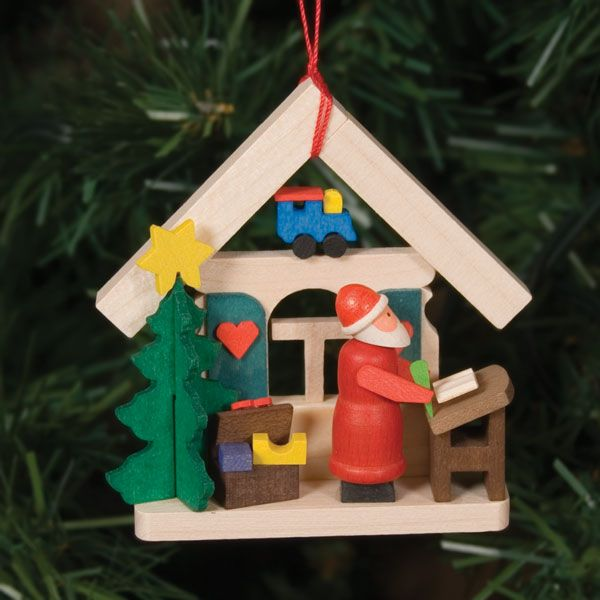 Santa S Workshop Christmas Ornament Wooden Christmas Tree Decorations Christmas Stocking Ornament Xmas Tree Decorations