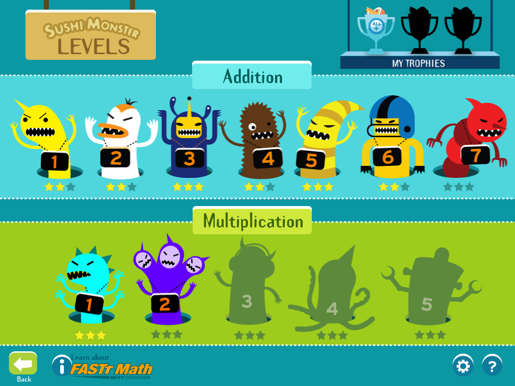 Free App In Sushi Monster Kids Practice Combining Numbed To Reach A Target Number Sushi Monster Sushi App