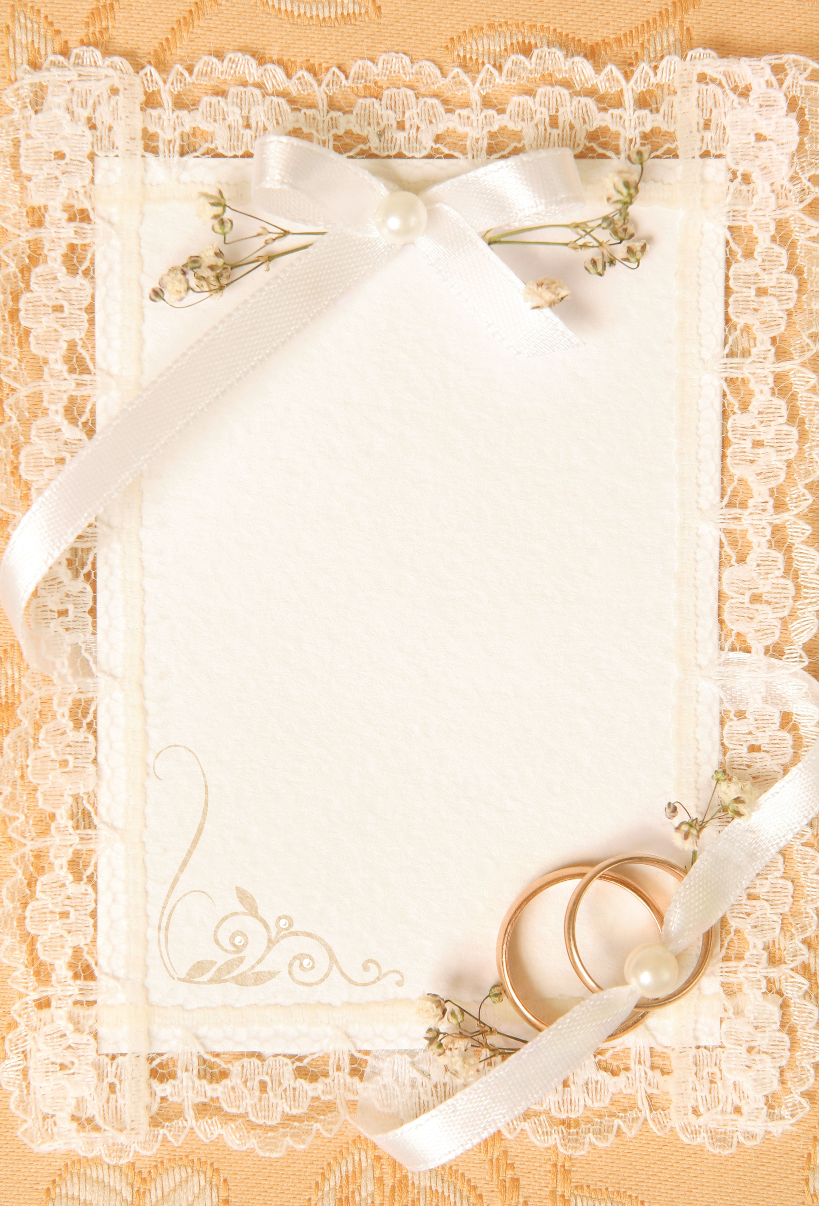 4 Elegant Blank Invitation Card Template Photoshop Collection
