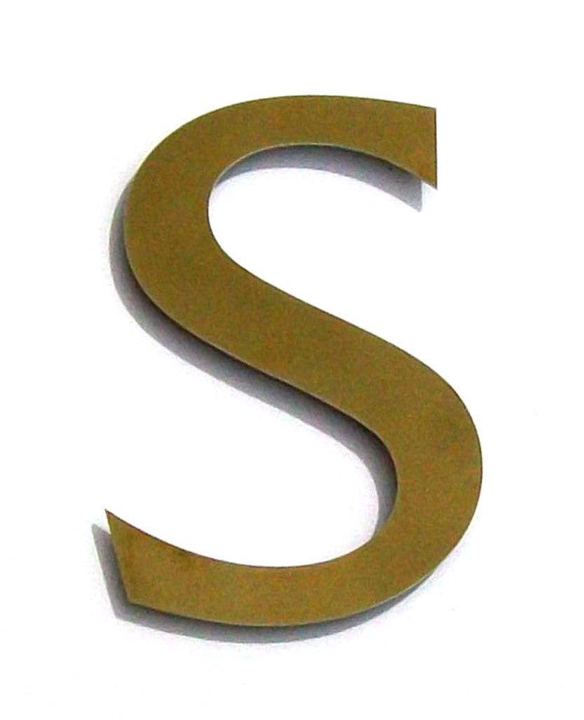 Stainless Steel Letter S  PhotosNet    Acrylic Letters