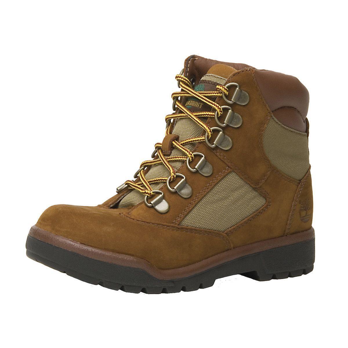 Timberland - 6 Inch Field Hiking Boot (Big Kid) - Sundance Brown