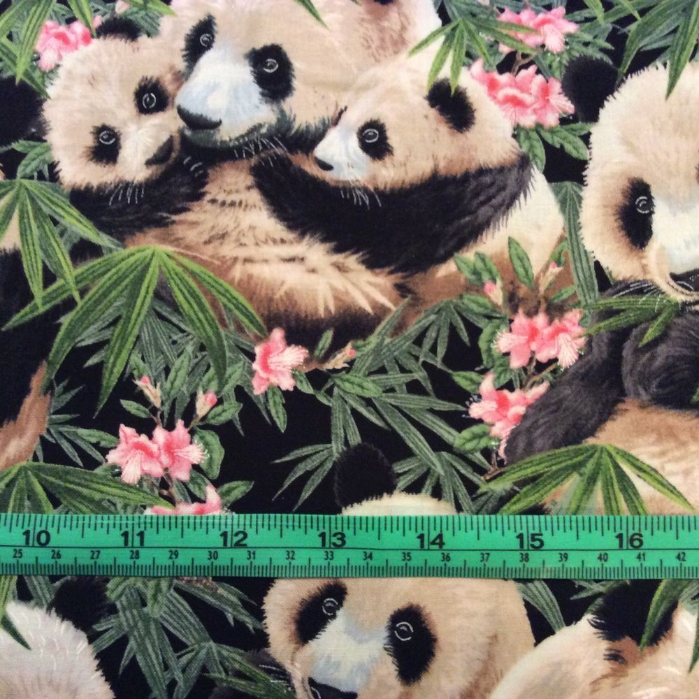 Elizabeth Studios Panda Fabric 2 yard piece