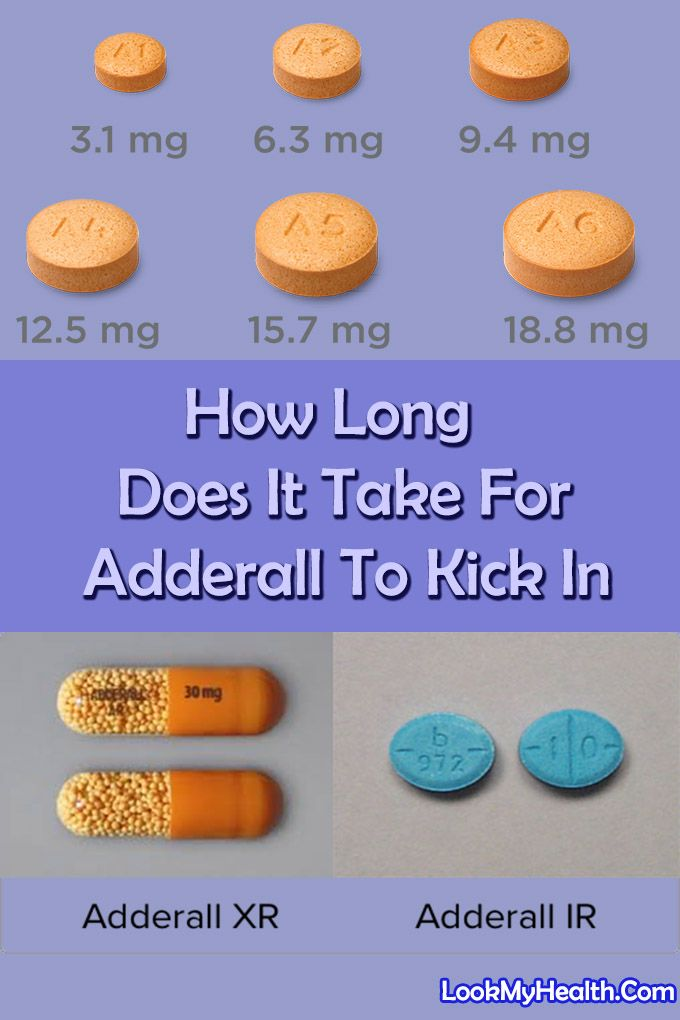 How Long Does It Take For Adderall To Kick In - Adderall is