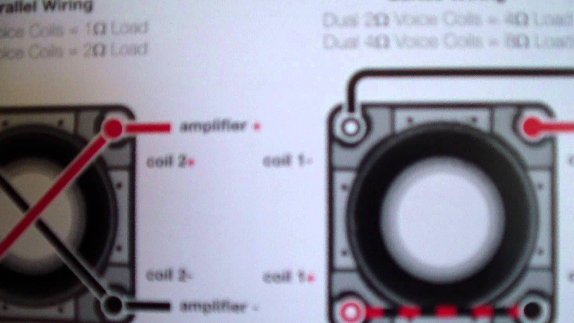 A Video On How To Wire Kicker Stuff For Joshee1347 Youtube Inside L7 Wiring Diagram 1 Ohm Kicker Subwoofer Kicker Amps Ohms