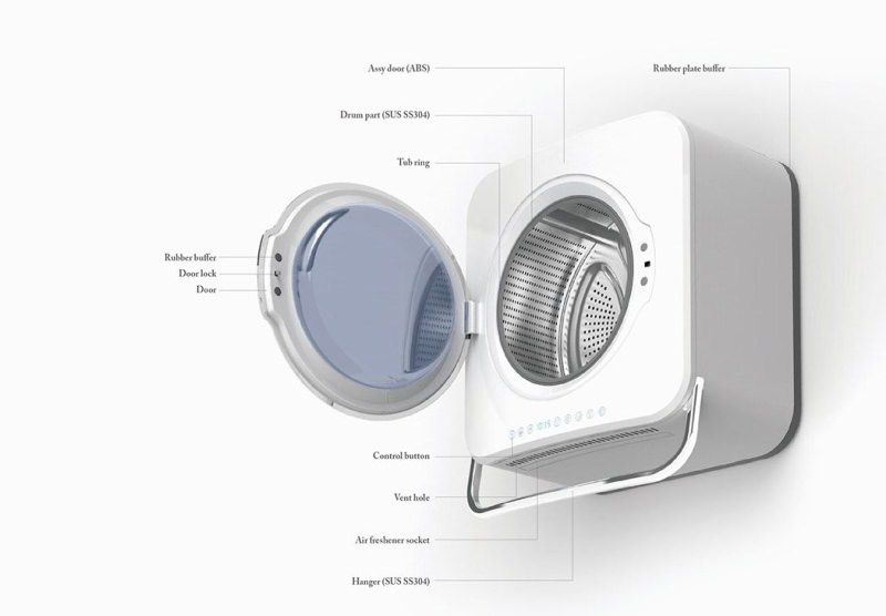 Samsung Hanger Wall Mounted Washing Machine For Single Occupant Mini Washing Machine Washing Machine Diy Bathroom Design