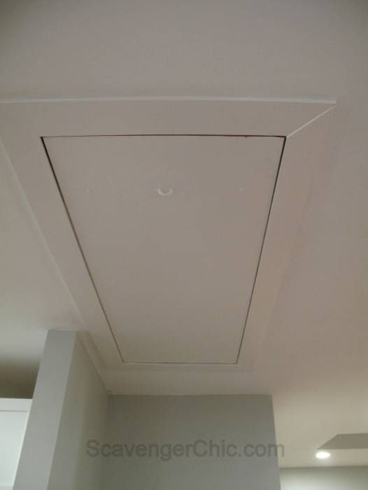 Hiding the Cord in a Pull Down Attic Stair Access