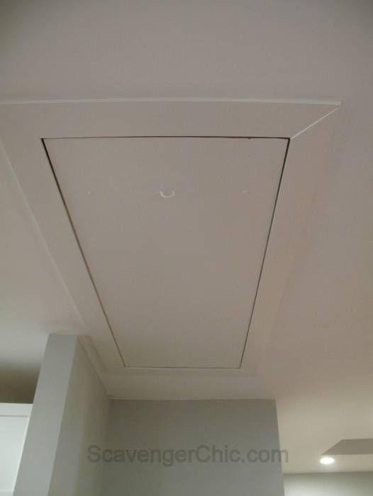 Getting Rid Of The Attic Access Cord Attic Renovation Attic Flooring Attic Remodel