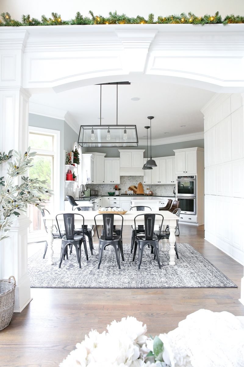 Our New Kitchen Table and Rug for EIGHT | Rug under ...