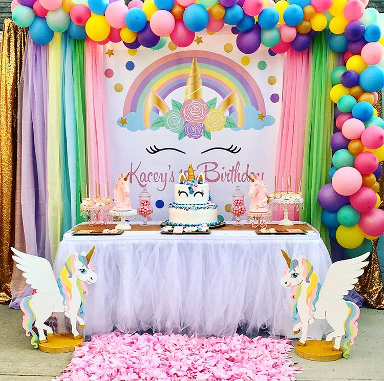 Mesa decorativa unicornio also ceremony in fiestas infantiles de rh pinterest