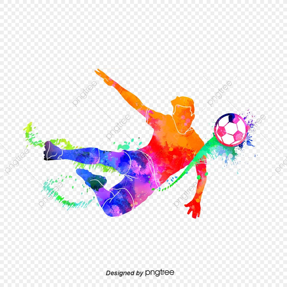 Silhouette Of Mens Creative Football Players Football Multicolored Sports Png Transparent Clipart Image And Psd File For Free Download Clipart Images Football Players Graphic Resources