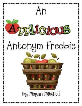 Applicious Antonym Freebie Antonym Synonyms And Antonyms Freebie