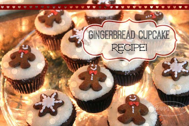 Happy Cakes Bakes: Gingerbread Cupcake Recipe!!
