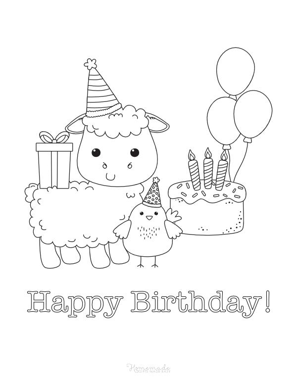 55 Best Happy Birthday Coloring Pages Free Printable Pdfs Happy Birthday Coloring Pages Birthday Coloring Pages Coloring Birthday Cards