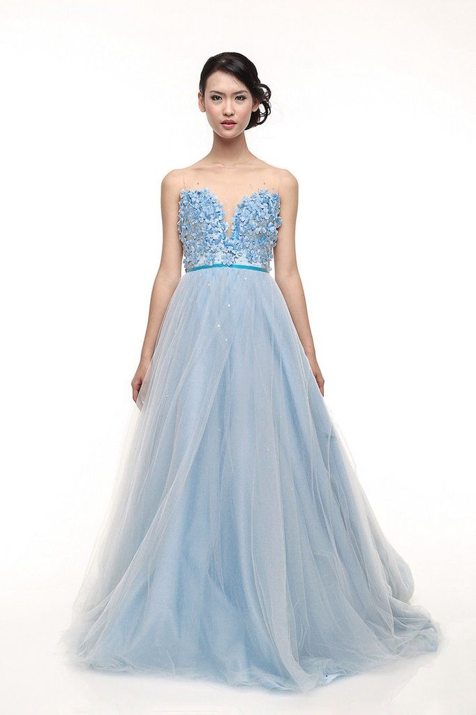 Rent: Monica Ivena Iceberg Blue Sweetheart Ball Gown   Ball gowns ...