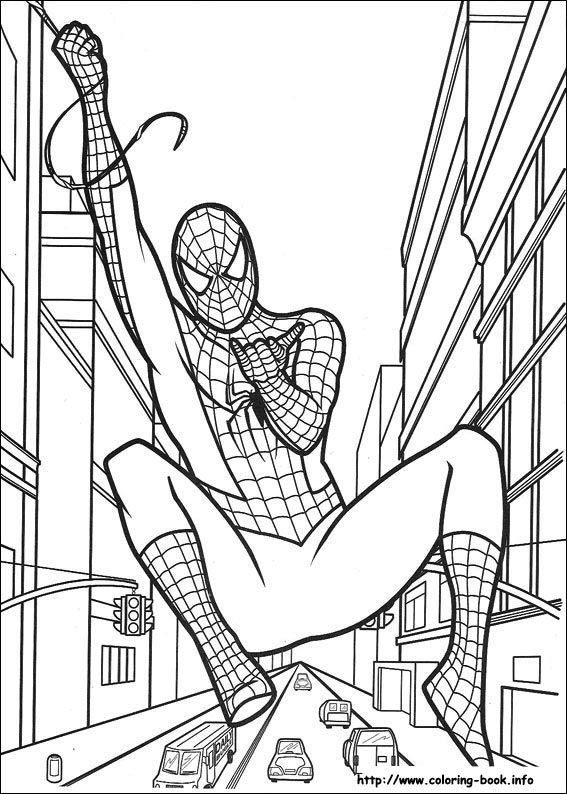 Spiderman coloring picture | Super hero vbs | Pinterest | Kids colouring