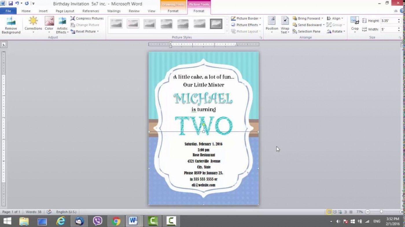 The surprising 4 Template Ideas Microsoft Word Birthday Card