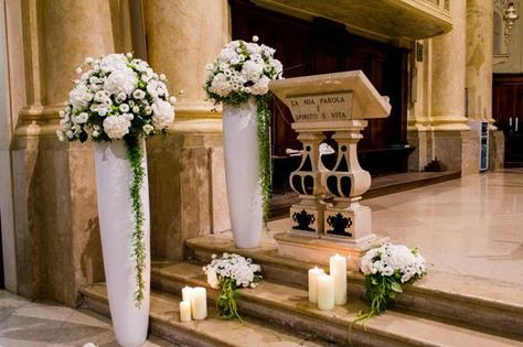 Addobbi Chiesa Matrimonio Con Candele Cerca Con Google Addobbi Floreali Matrimonio Fiori Per Matrimoni Fiori Cerimonia Di Nozze