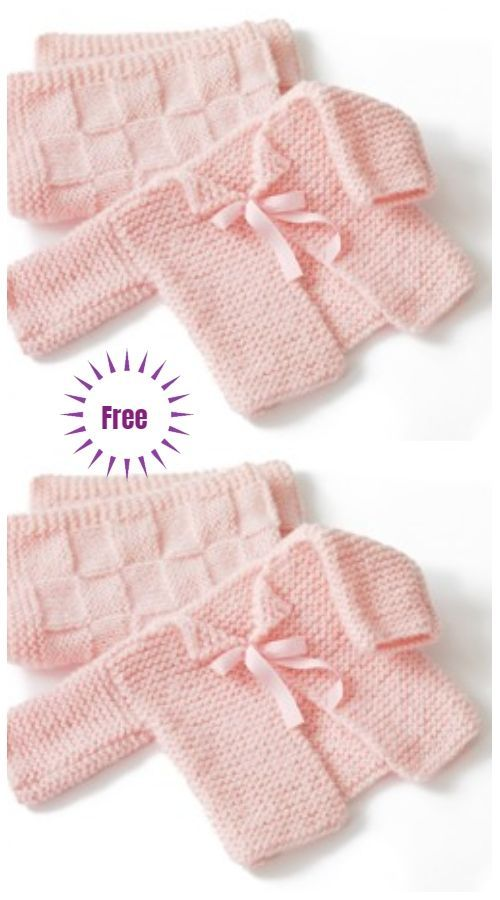 Photo of Easy Garter Stitch Sideways Baby Cardigan Free Knitting Patterns –Glamour-Baby…