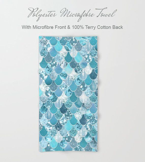Mermaid Bathroom Decor Shower Curtain 71 x 74 | Etsy #mermaidbathroomdecor