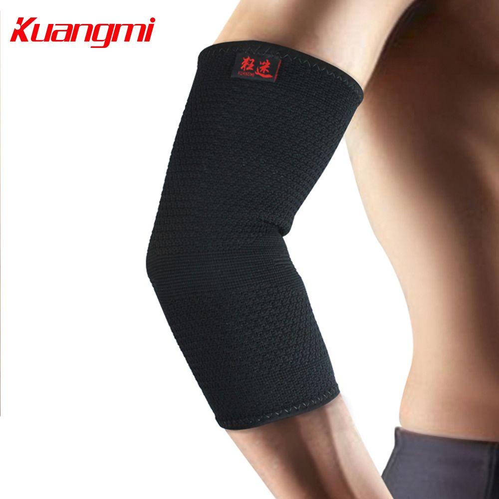 Kuangmi Elbow Support Basketball Tennis Sports Compression Sleeve Elbow Brace Arm Warmers Ski Volleyball Hockey Go Compression Sleeves Elbow Braces Arm Warmers
