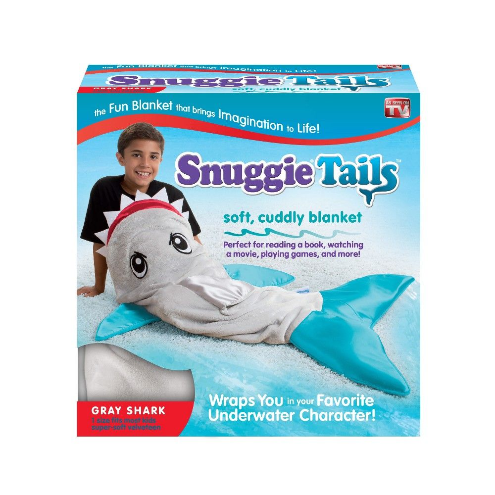 As Seen On Tv Snuggie Tail Blanket Shark Gray Products