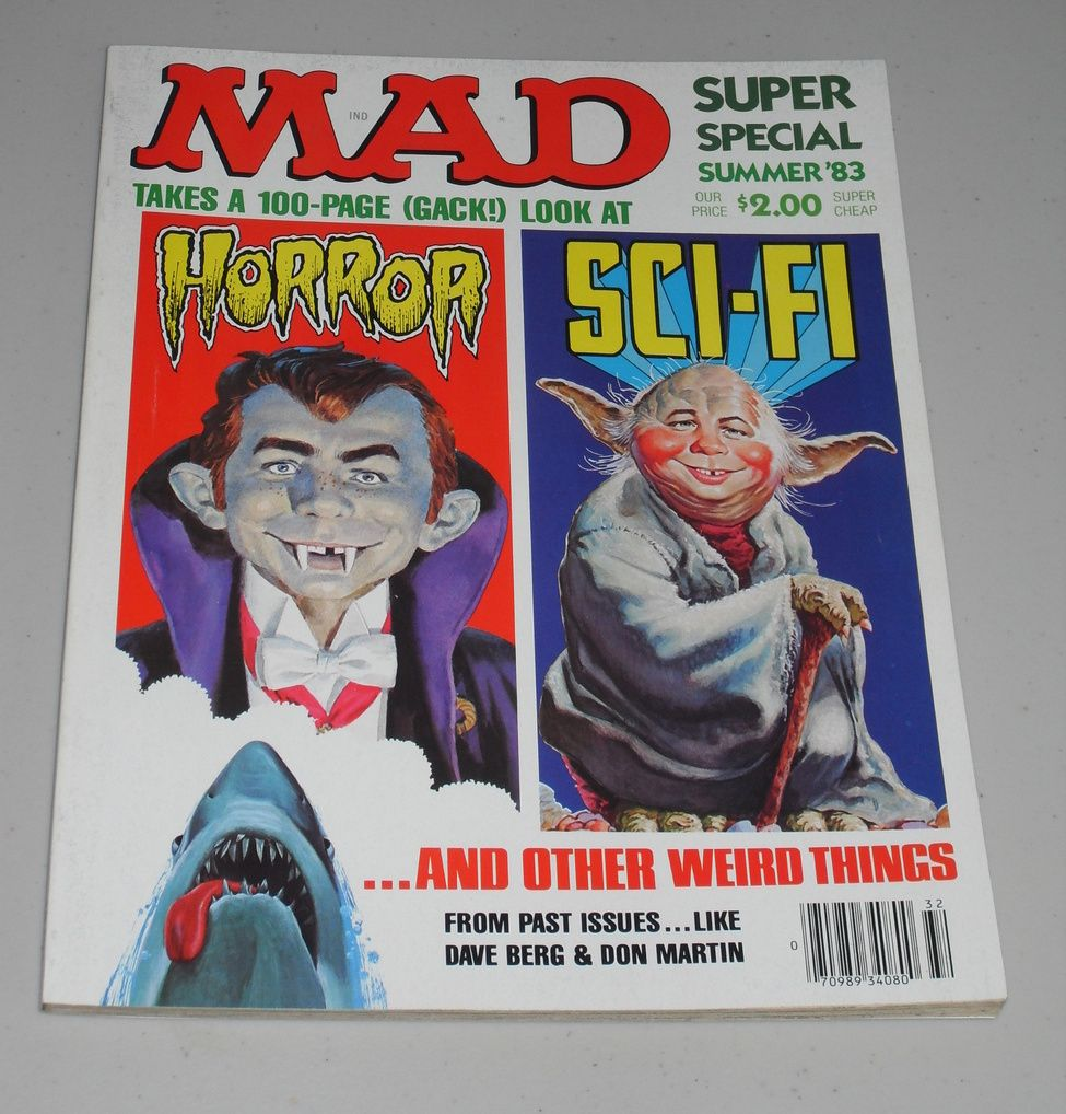 Vintage 1983 Mad Magazine Summer Special Sci-Fi & Horror