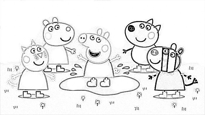 Dibujo Peppa Pig Para Colorear Y Disfrutar Kids Crafts
