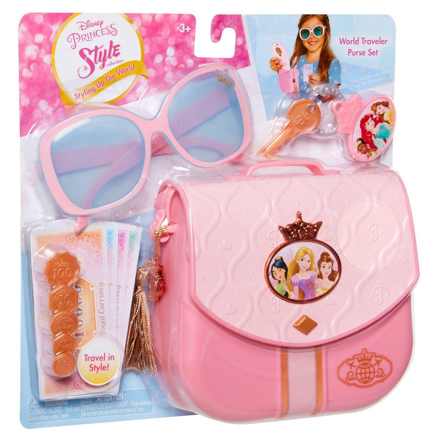 Disney Princess Style Collection World Traveler Purse Set In 2020 Disney Princess Toys Little Girl Toys Princess Toys