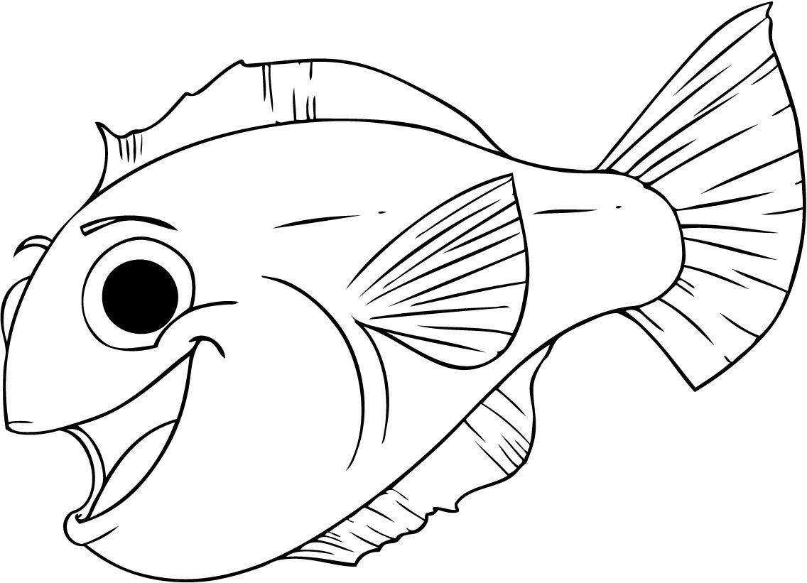 fish coloring pages for kids Free Printable Fish Coloring Pages For Kids | Tiger Cub  fish coloring pages for kids