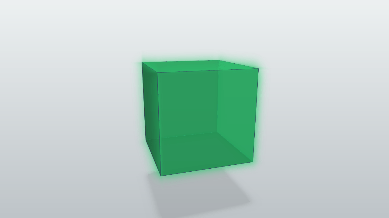 A pure CSS 3D rotating cube, with face shading and shadow