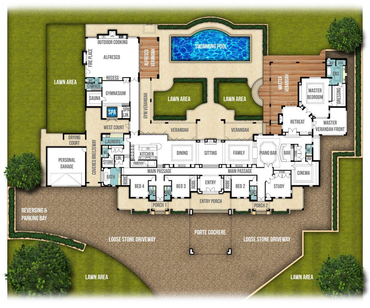 The Chateau Split Level House Plan by Boyd Design Perth | Floorplans ...