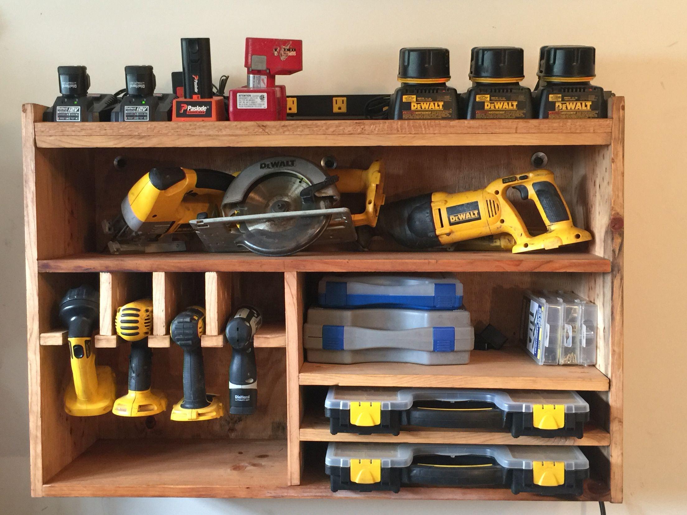 Cordless Tool Station Shop Organization Pinterest