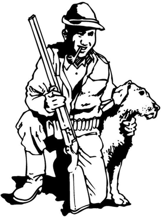 Coloriage de chasse au sanglier colorier dessin imprimer p che et chasse dessin chasse - Coloriage de sanglier ...
