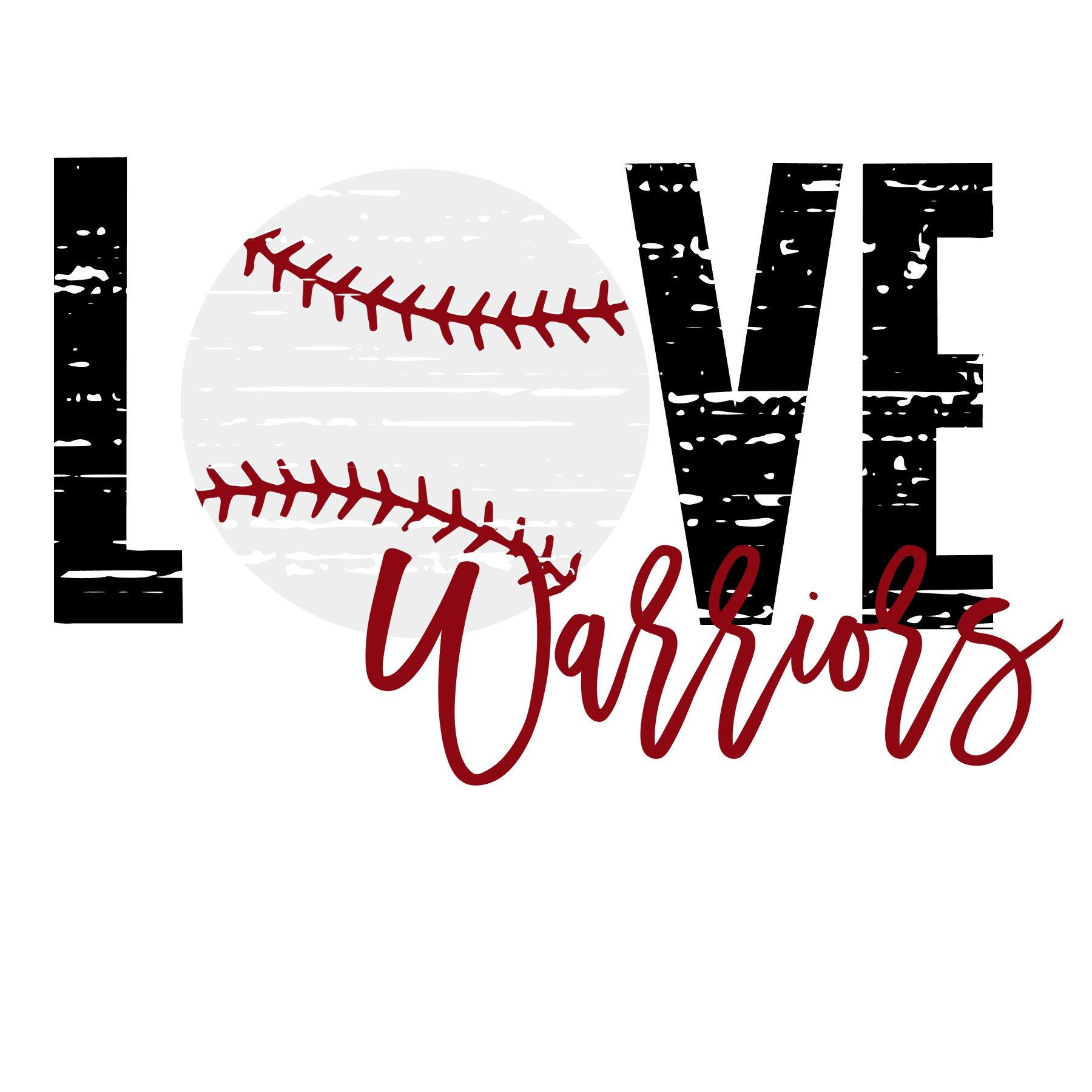 Download Love Distressed Baseball Warriors SVG   Etsy   Svg, Cricut ...