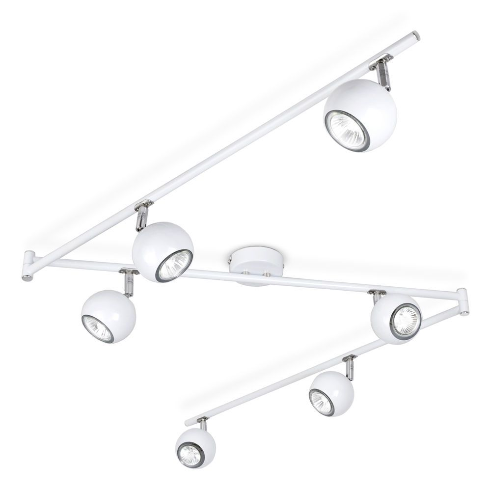 Modern White Chrome Retro Eyeball Way Kitchen Ceiling Spot Light - Chrome kitchen ceiling lights
