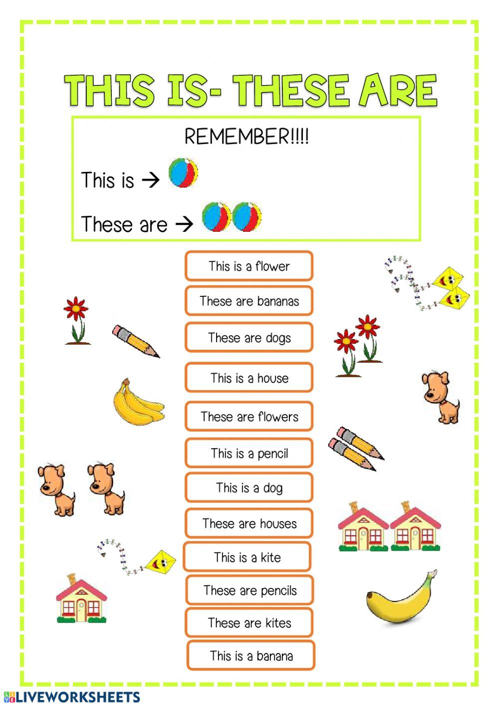 Demonstratives interactive and downloadable worksheet. You can do the…    English worksheets for kids [ 1413 x 1000 Pixel ]