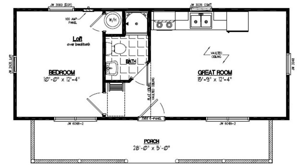 Image result for 12 x 32 floor plans Cabin floor plans