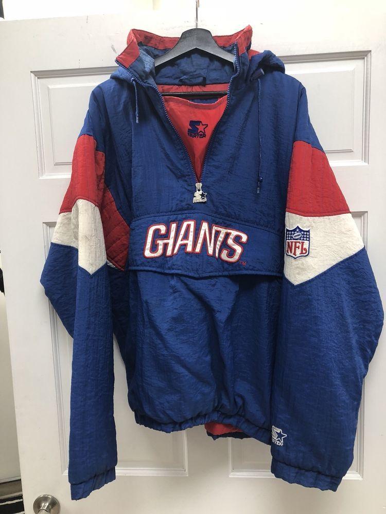 Vintage Starter NFL New York Giants Puffer Jacket Size L Free Shipping  cc1731b00