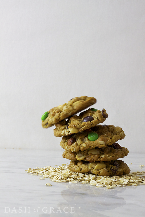 Monster Mountain Trail Mix Cookies