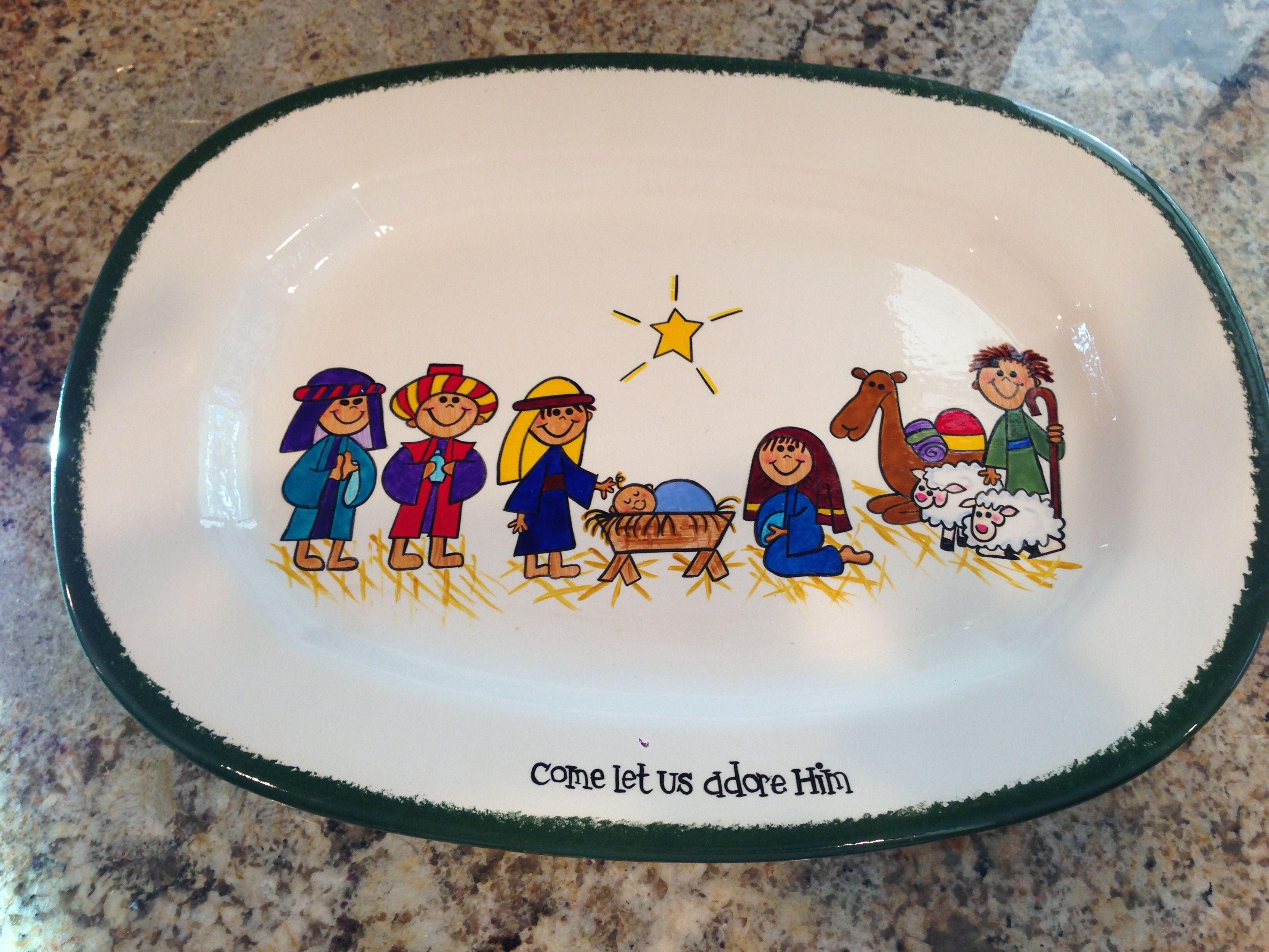 Nativity platter #nativity #jesus