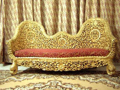 Indian wedding furniture is usually always gold.