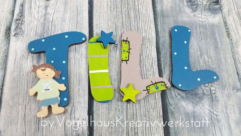 Holzbuchstaben - Holzbuchstaben / Türbuchstaben / Kinderzimmer - ein ...