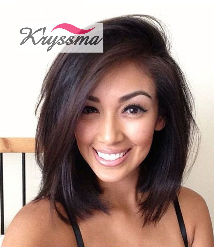 Details about Short Bob Human Hair Lace Front Wigs Brazilian Remy Human Hair Wigs Black Women