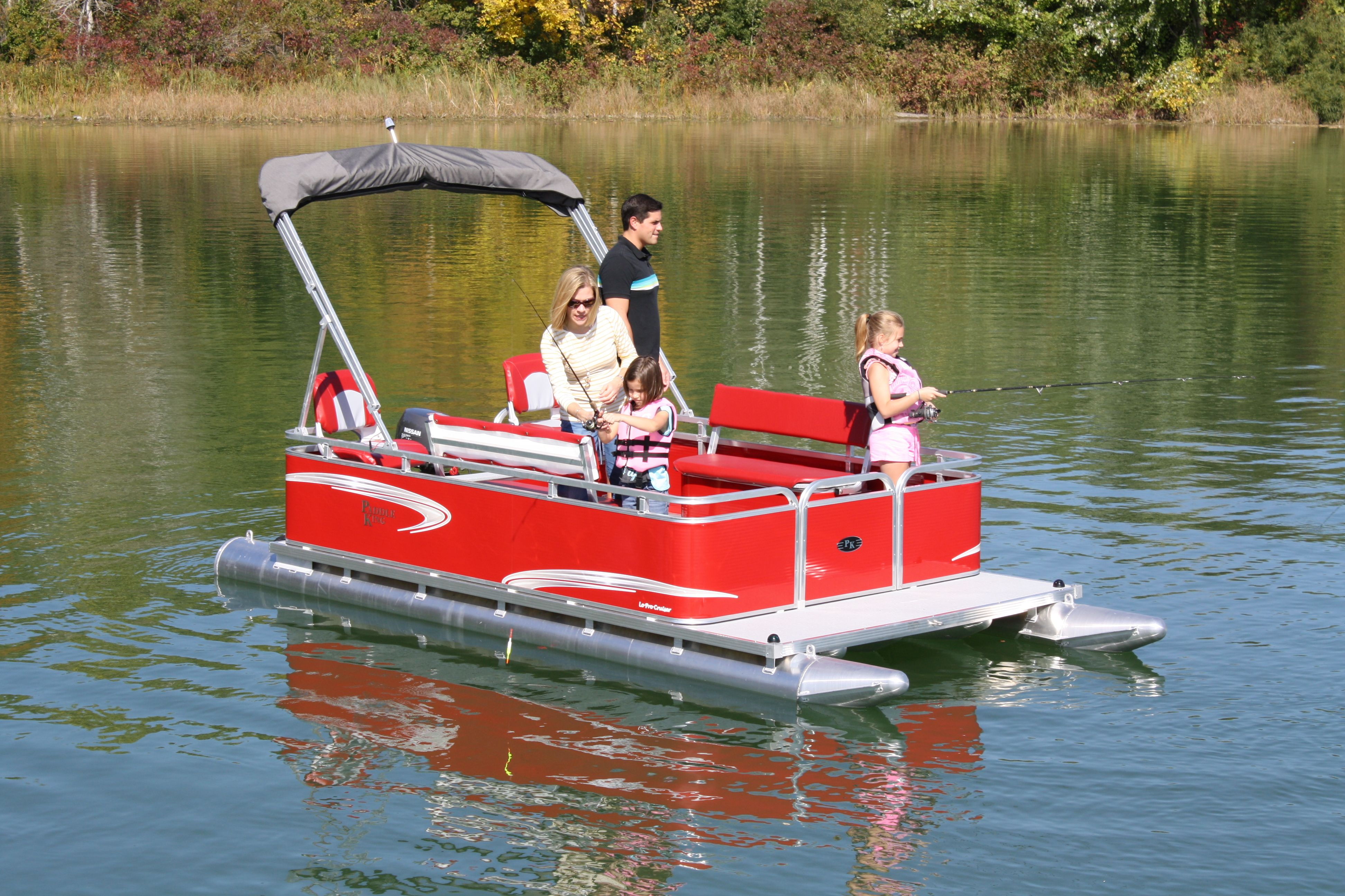 We sell a full line of pontoon boats, swim platforms and