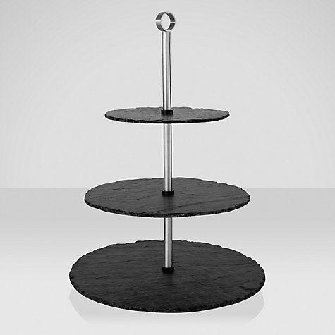 buy just slate 3 tier cake stand online at. Black Bedroom Furniture Sets. Home Design Ideas