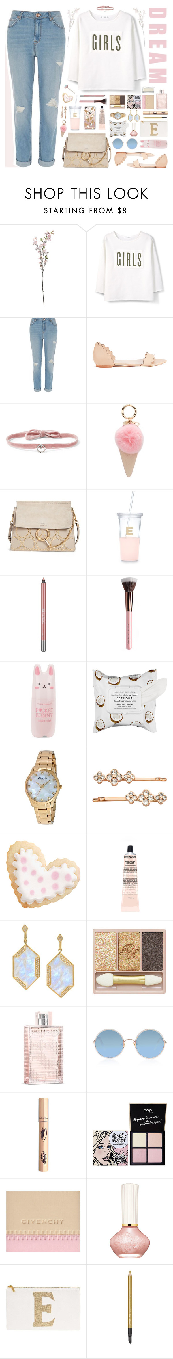 """Dream Girls🌸"" by ealkhaldi ❤ liked on Polyvore featuring MANGO, River Island, Loeffler Randall, DANNIJO, Iphoria, Chloé, Kate Spade, Urban Decay, Tony Moly and Sephora Collection"